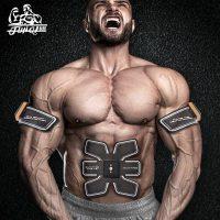 骏骑 腹部贴健身器材腹肌轮训练器瘦肚子肌肉仪锻炼家用减肥男士健腹器
