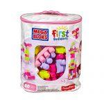MEGA美高 拼搭玩具 费雪美高大袋装积木80片粉色
