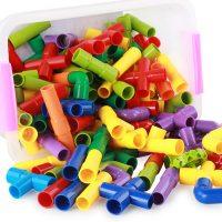 达拉 水管道积木塑料拼装插男孩子女童宝宝儿童玩具 38件装(送收纳盒)
