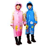 南极人 儿童雨衣幼儿园宝宝雨披小孩学生男童女童环保雨衣带书包位