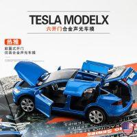 仿真特斯拉 x90 合金车模仿真回力汽车模型 儿童玩具车小汽车