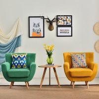 艺趣 B0-04 北欧单人沙发椅 现代咖啡厅卧室简约客厅小户型沙发 美式布艺沙发