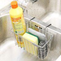玖都龙 C023 水槽挂篮厨房收纳304不锈钢置物架沥水架吸盘洗菜盆壁挂沥水篮子