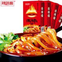辣味客 正宗重庆酸辣粉丝方便速食手工粉红薯粉条特色小吃288g*4盒