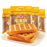 HTK回头客 华夫饼120g*4包 面包早餐整箱食品华夫格子饼小面包蛋糕批发