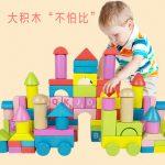 达拉 JMJM01 婴儿积木玩具木制早教益智可啃咬幼儿童男女孩宝宝 80粒
