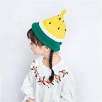 此间 韩版女童秋冬帽子男童西瓜帽宝宝毛线春秋帽子毛线帽子儿童帽子 多款可选