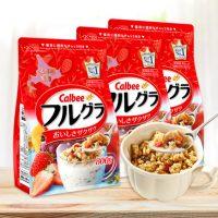 Calbee卡乐B 北海道富果乐水果麦片800gX3袋装 营养早餐麦片 日本销量很好