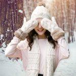 THANTRUE 韩版连体帽子围巾手套三件套女一体成人冬季毛线保暖套装生日礼物 2色可选