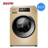 神价格 Sanyo三洋 DG-F80570BH 8公斤洗烘变频全自动滚筒洗衣机家用烘干