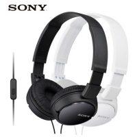 Sony索尼 MDR-ZX110AP 头戴式立体声线控通话音乐耳机电脑手机 黑白2色