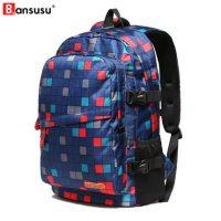 Bansusu阪元宿宿 男女双肩包女韩版潮书包中学生大容量旅行包休闲运动背包 多款可选