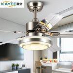 嘉业 52JY-5169 不锈钢餐厅吊扇灯 风扇灯卧室现代简约带遥控的LED电风扇吊灯