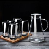 Luminarc乐美雅 透明玻璃杯子家用茶杯套装无盖喝水杯子冷水壶凉水壶大容量6只装 多套装可选