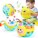 爱婴乐 婴儿玩具新生手摇铃牙胶男宝宝儿童幼儿女孩 多款可选