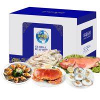 聚天鲜 海鲜礼盒大礼包鲜活冷冻生鲜水产组合黄金蟹鲍鱼海鲜现货年货礼品1835g以上